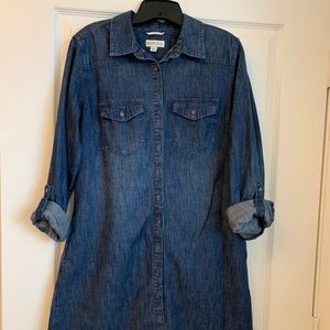 Merona Denim Shirt Dress Size Medium